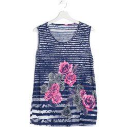 Bluzki damskie: Niebiesko-Różowa Bluzka Sustain
