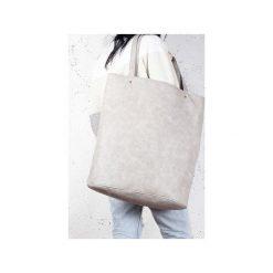 Mega Shopper bag beżowa torba oversize Vegan. Brązowe shopper bag damskie Hairoo, w paski. Za 170,00 zł.
