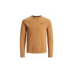 Swetry Jack   Jones  JERSEI  JORHOMEWORK KNIT CREW NECK MARRON. Brązowe swetry klasyczne męskie Jack & Jones, m. Za 162,30 zł.