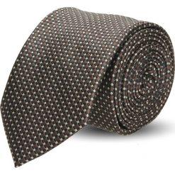 Krawaty męskie: krawat platinum brąz classic 211