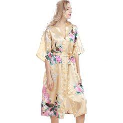 Szlafroki kimona damskie: Szlafrok w kolorze beżowym