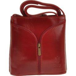Torebki klasyczne damskie: Skórzana torebka w kolorze czerwonym – 18 x 18 x 7 cm