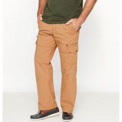 Bojówki męskie: Sportowe spodnie typu cargo z czystej bawełny