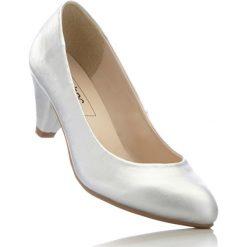 Buty ślubne damskie: Czółenka bonprix srebrny