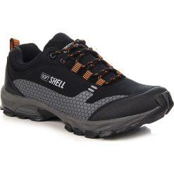 Buty trekkingowe męskie: Czarno pomarańczonwe sportowe buty męskie trekkingowe Wishot