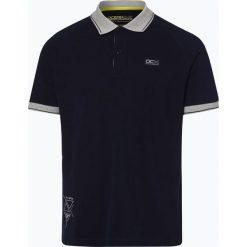 Ocean Cup - Męska koszulka polo, niebieski. Niebieskie koszulki polo marki OLYMP SIGNATURE, m, paisley. Za 129,95 zł.