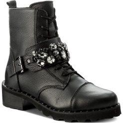 Botki R.POLAŃSKI - 0897/K Czarny Lico. Czarne buty zimowe damskie marki R.Polański, ze skóry, na obcasie. W wyprzedaży za 309,00 zł.