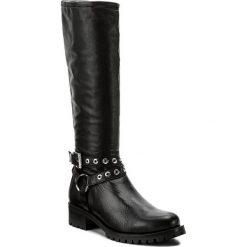 Oficerki UNISA - Imelda Ri Black. Czarne buty zimowe damskie marki Unisa, z materiału, na obcasie. W wyprzedaży za 479,00 zł.