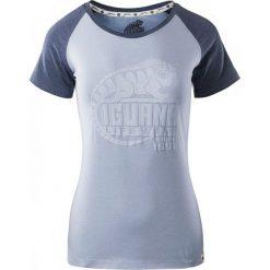 Bluzki asymetryczne: IGUANA Koszulka damska  BAAKO W Brunnera Blue Melange/ Twilight Blue Melange r. XL