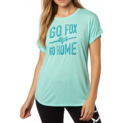 T-shirty damskie: FOX T-Shirt Damski Invariable Crew L Turkusowy