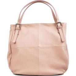 Torebki klasyczne damskie: Skórzana torebka w kolorze jasnoróżowym – (S)42 x (W)38 x (G)12 cm