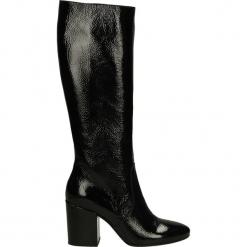 Kozaki - 1601 NAP NERO. Czarne buty zimowe damskie Venezia, ze skóry. Za 299,00 zł.