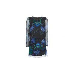 Sukienki krótkie Desigual  MACHINE. Szare sukienki mini marki Desigual, l, z krótkim rękawem. Za 439,00 zł.