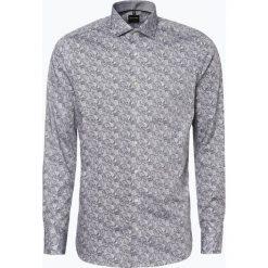 Olymp Level Five - Koszula męska łatwa w prasowaniu, czarny. Czarne koszule męskie na spinki OLYMP Level Five, m, paisley, z bawełny. Za 249,95 zł.