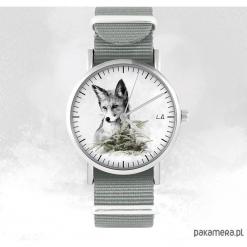 Zegarek - Lis - szary, nato. Szare zegarki męskie Pakamera. Za 129,00 zł.