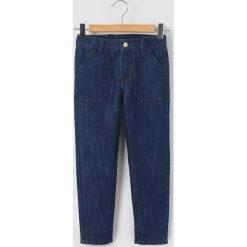 Dżinsy cargo 3-12 lat. Niebieskie jeansy dziewczęce La Redoute Collections, z bawełny, z standardowym stanem. Za 69,26 zł.