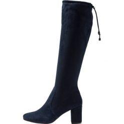 Pier One Kozaki dark blue. Niebieskie buty zimowe damskie marki Pier One, z materiału. Za 379,00 zł.