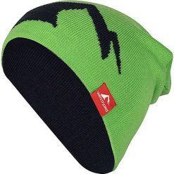 """Czapki męskie: Dwustronna czapka beanie """"Westfjord"""" w kolorze jasnozielono-granatowym"""