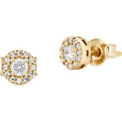 Biżuteria i zegarki: Kolczyki Złote – złoto żółte 333, Cyrkonia