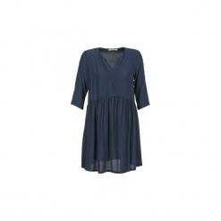 Sukienki krótkie See U Soon  SANDRA. Niebieskie sukienki mini marki See u Soon, s, z krótkim rękawem. Za 230,30 zł.