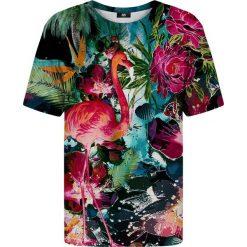 T-shirty damskie: T-shirt ze wzorem Colorful Flamingo