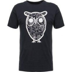T-shirty męskie z nadrukiem: Knowledge Cotton Apparel DIAGRAM OWL  Tshirt z nadrukiem total eclipse