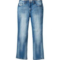 """Dżinsy ze stretchem Slim Fit Bootcut bonprix jasnoniebieski """"used"""". Niebieskie jeansy męskie relaxed fit bonprix, z aplikacjami, z jeansu. Za 109,99 zł."""