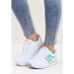 Białe Buty Sportowe Enlight. Pomarańczowe buty sportowe damskie marki Born2be, z materiału. Za 79,99 zł.