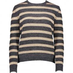 Sweter w kolorze brązowo-beżowym. Brązowe swetry klasyczne damskie marki Gottardi, s, z wełny, z okrągłym kołnierzem. W wyprzedaży za 173,95 zł.
