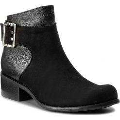 Botki MACCIONI - 544 Czarny. Czarne buty zimowe damskie Maccioni, z materiału. W wyprzedaży za 269,00 zł.