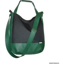 Shopper bag damskie: 5579 ankate, duża czarna torba, czarny worek