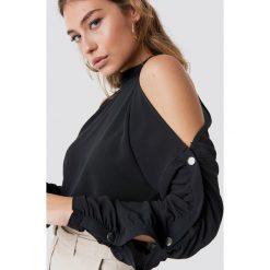 Rut&Circle Bluza z guzikami na rękawach - Black. Czarne bluzy rozpinane damskie Rut&Circle, z materiału. Za 161,95 zł.