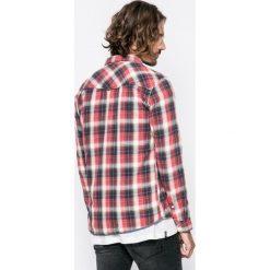 Blend - Koszula. Szare koszule męskie na spinki marki S.Oliver, l, z bawełny, z włoskim kołnierzykiem, z długim rękawem. W wyprzedaży za 89,90 zł.