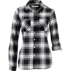 Bluzka w kratę bonprix czarno-biały w kratę. Białe bluzki damskie bonprix. Za 69,99 zł.