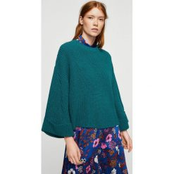 Mango - Sweter Loose. Niebieskie swetry klasyczne damskie marki DOMYOS, z elastanu, street, z okrągłym kołnierzem. W wyprzedaży za 59,90 zł.