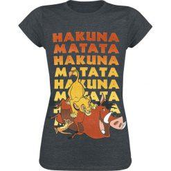 The Lion King Group Koszulka damska odcienie szarego. Szare bluzki damskie The Lion King, m, z nadrukiem, z okrągłym kołnierzem. Za 74,90 zł.