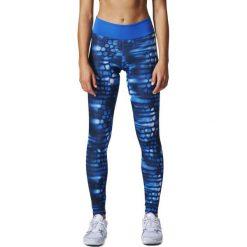 Spodnie damskie: Adidas Legginsy Long Tight Q1 niebieskie r. M (BQ2112)