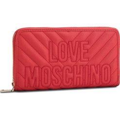 Duży Portfel Damski LOVE MOSCHINO - JC5585PP06KI0500  Rosso. Czerwone portfele damskie marki Love Moschino, ze skóry ekologicznej. Za 429,00 zł.