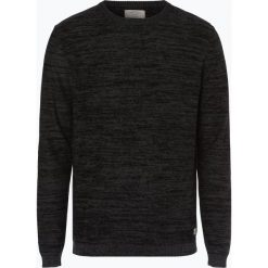 Jack & Jones - Sweter męski – Jornewfargo, szary. Czarne swetry klasyczne męskie marki Jack & Jones, l, z bawełny, z okrągłym kołnierzem. Za 119,95 zł.