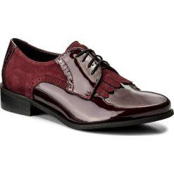 Oxfordy SAGAN - 2993 Bordowy Lakier/Bordowy Welur. Czerwone jazzówki damskie marki Sagan, z lakierowanej skóry, na obcasie. W wyprzedaży za 229,00 zł.
