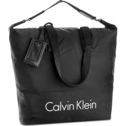 Shopper bag damskie: Torebka CALVIN KLEIN BLACK LABEL – City Nylon Shopper K60K603843 001
