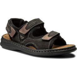 Sandały JOSEF SEIBEL - Franklyn 10236 11 101 Schwarz Kombi. Czarne sandały męskie skórzane Josef Seibel. W wyprzedaży za 179,00 zł.