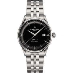 PROMOCJA ZEGAREK CERTINA DS 1 C029.807.11.051.00. Czarne zegarki męskie CERTINA, ze stali. W wyprzedaży za 2455,20 zł.