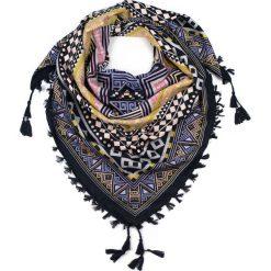Chusty damskie: Art of Polo Chusta damska Aztec geometry czarno żółta