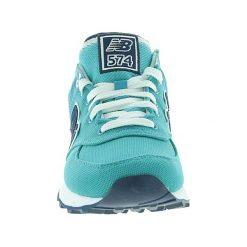 New Balance - Buty WL574POA. Zielone buty sportowe damskie New Balance, z materiału. W wyprzedaży za 229,90 zł.