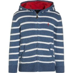 Swetry chłopięce: Polo Ralph Lauren STRIPE HOOD Kardigan denim heather