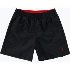 Polo Ralph Lauren - Męskie spodenki kąpielowe, czarny. Czarne kąpielówki męskie Polo Ralph Lauren, z tkaniny. Za 299,95 zł.