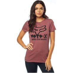 FOX T-Shirt Damski Drips Crew L Burgund. Szare t-shirty damskie marki FOX, z bawełny. Za 117,00 zł.