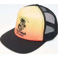 Czapki męskie: Czapka truckerka – Pomarańczowy