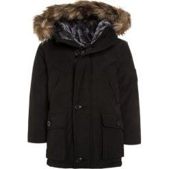 GAP WARMEST Płaszcz puchowy true black. Czarne kurtki chłopięce przeciwdeszczowe GAP, z bawełny. W wyprzedaży za 377,10 zł.